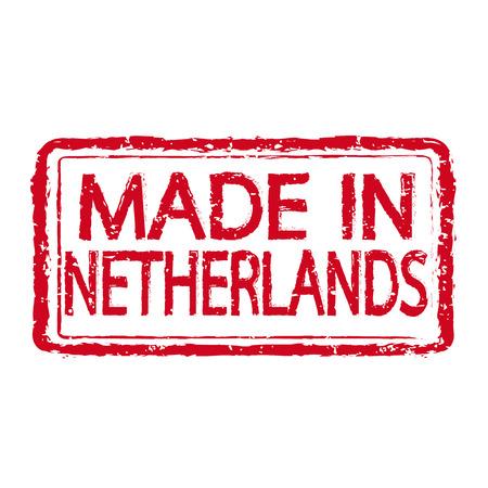 made in netherlands: Made in NETHERLANDS stamp text Illustration