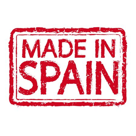 made in spain: Made in SPAIN stamp text Illustration Illustration