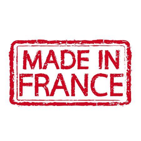 france stamp: Made in FRANCE stamp text Illustration Illustration
