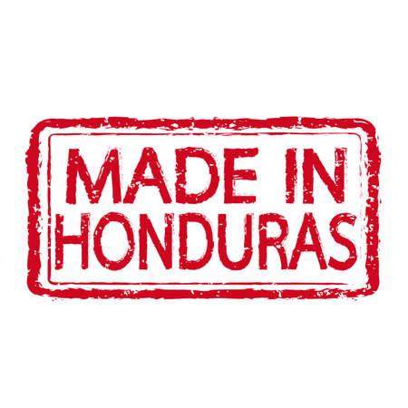 honduras: Made In HONDURAS Stamp Text Illustration