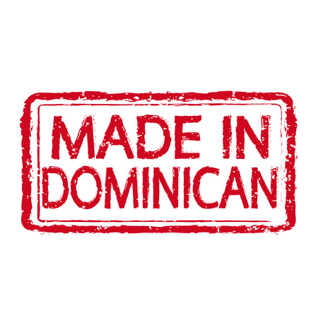 mendicant: Made In DOMINICAN Stamp Text Illustration