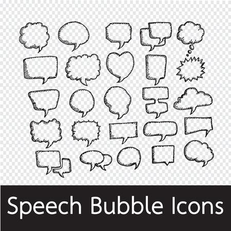 Speech Bubble handgetekende