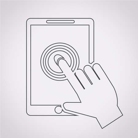 tabletpc: Smartphone touchscreen icon