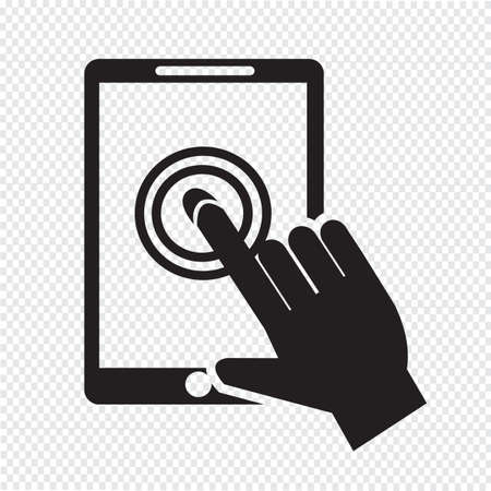 multi touch: Smartphone touchscreen icon