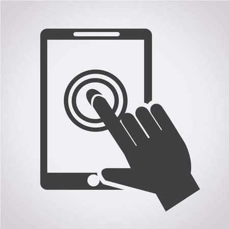 using senses: Smartphone touchscreen icon
