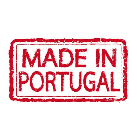 certificated: Made in PORTUGAL stamp text Illustration