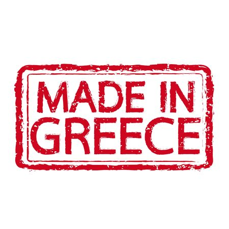 Made in GREECE stamp text Illustration Illustration