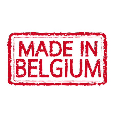 made in belgium: Made in BELGIUM stamp text Illustration