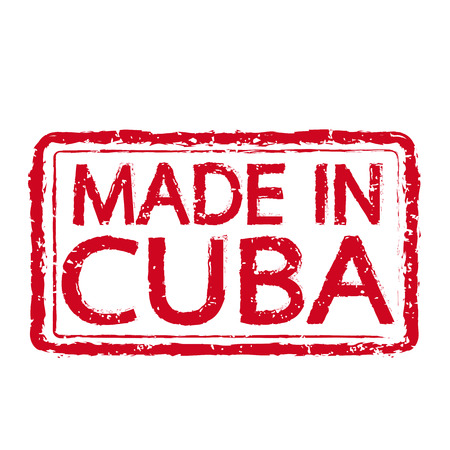 readymade: Made in CUBA stamp text Illustration