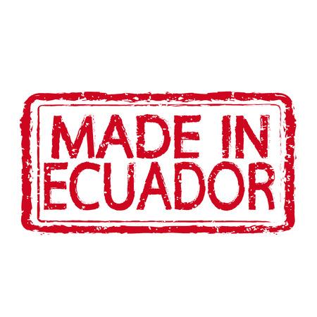 made manufacture manufactured: Made in ECUADOR stamp text Illustration Illustration