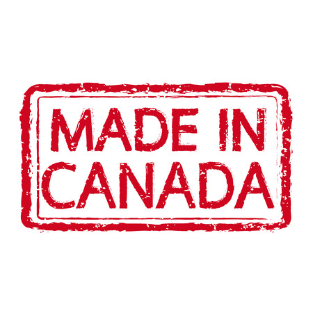 canada stamp: Made in CANADA stamp text Illustration