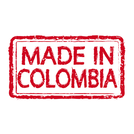 transnational: Made in COLOMBIA stamp text Illustration Illustration