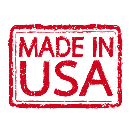 manufactured: MADE IN USA Rubber Stamp text Illustration