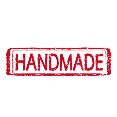 HANDMADE stamp text Illustration Vector