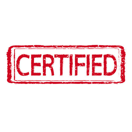 certified: certified stamp text Illustration