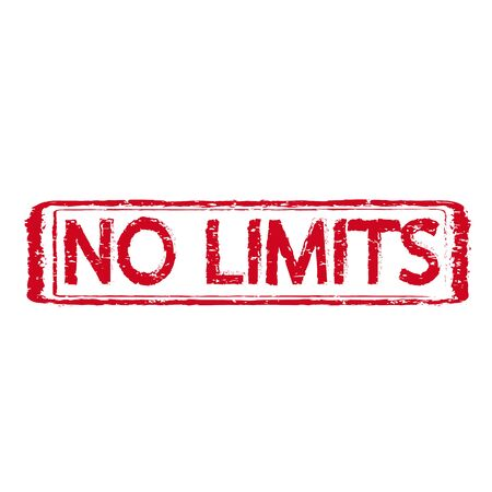 restrictions: NO LIMITS grunge rubber stamp,illustration