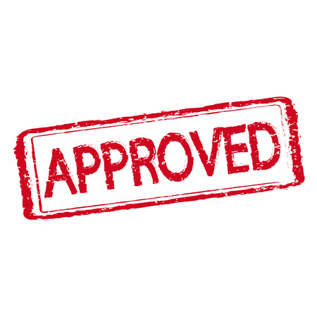 sello: sello en el texto aprobado