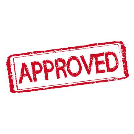 timbro testo approvato Vettoriali