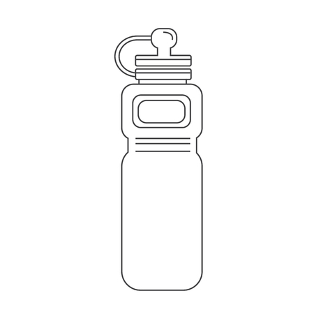 thirsty: sport water bottle icon
