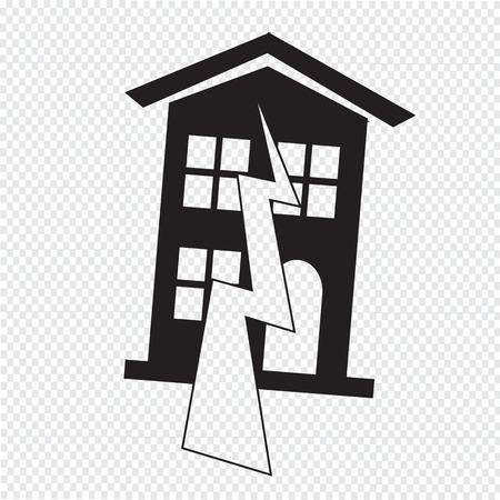 Earthquake Symbol icon Vector