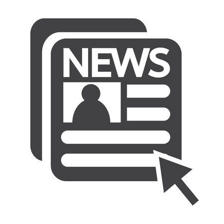 newspaper icon: News and newspaper icon