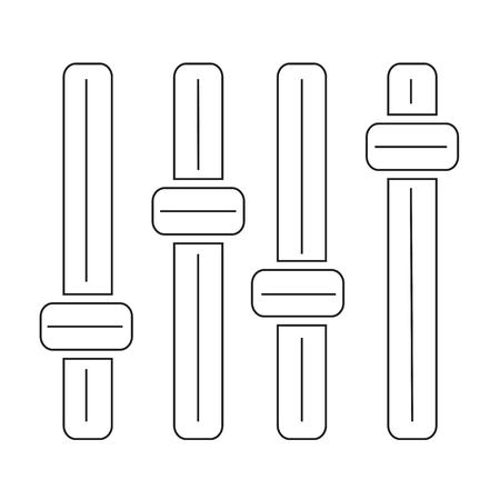 turn dial: control panel icon Illustration