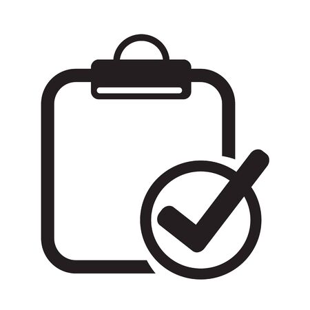 file clerk: Clipboard check list icon Illustration