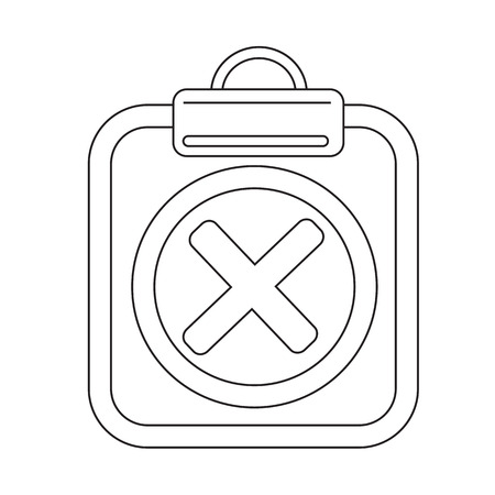 file clerk: Clipboard check list icon Illustration