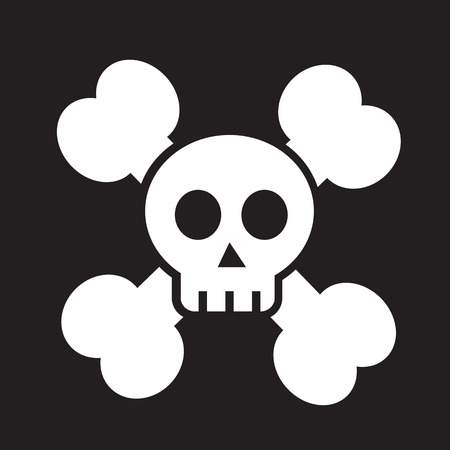 skull bone icon Vector