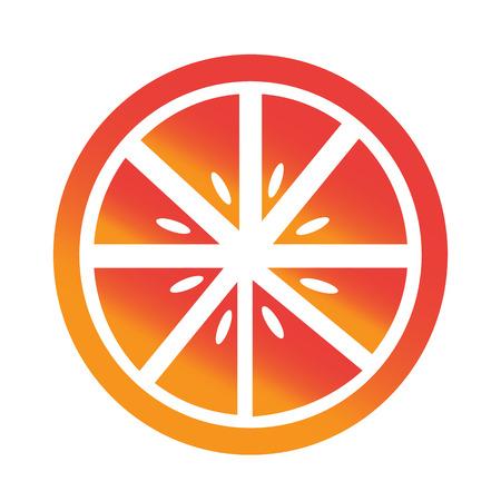 naranja fruta: Icono de la fruta de Orange Vectores