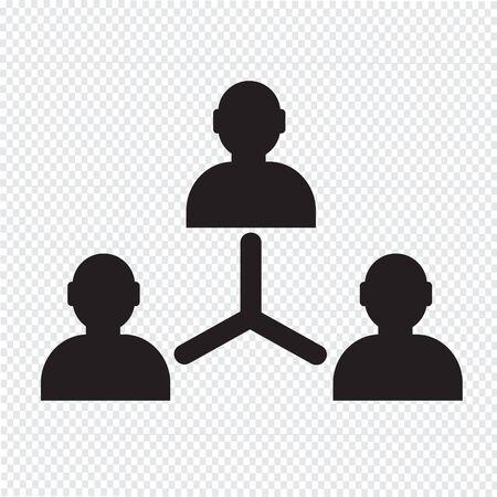 business person: User icon , human business person design Illustration
