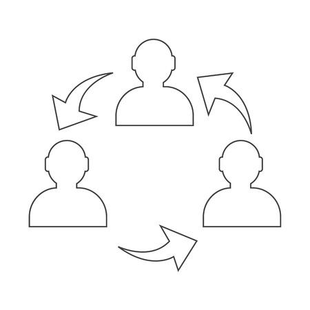 corporate hierarchy: User icon , human business person design Illustration