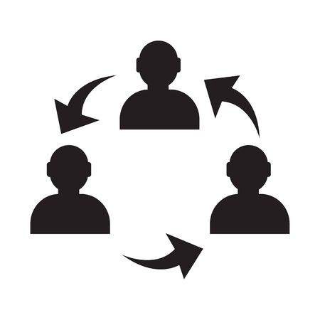organized group: User icon , human business person design Illustration