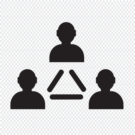 corporate hierarchy: User icon , human resource and business person design Illustration