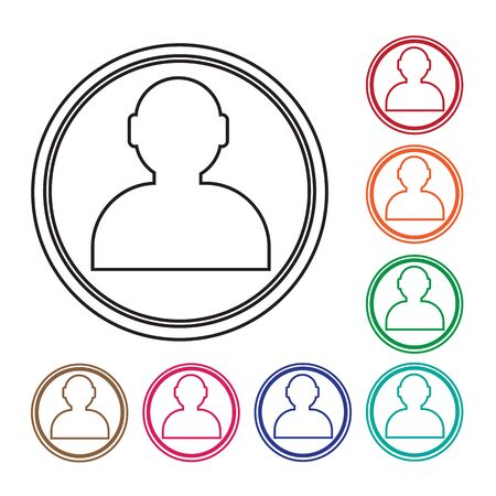 business person: User icon , human resource and business person design Illustration