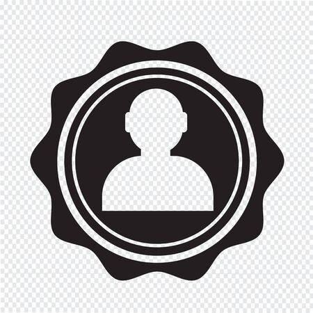 organized group: User icon , human resource and business person design Illustration