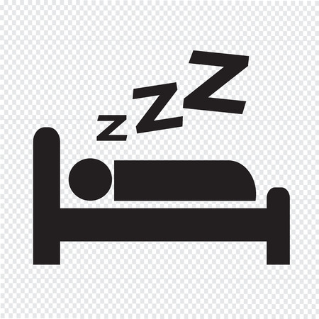 Sleeping design icoon