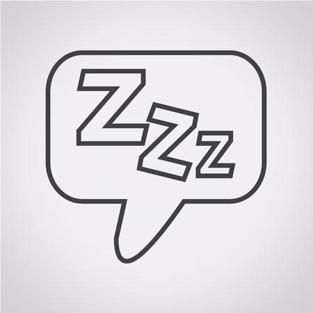 Sleep Icon 일러스트