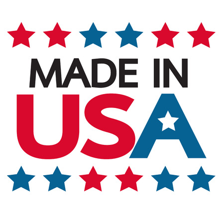 usa patriotic: Made in USA Icon Illustration