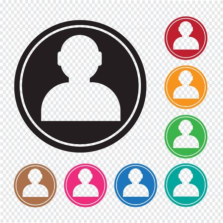 User icon , human resource and business person design 矢量图像