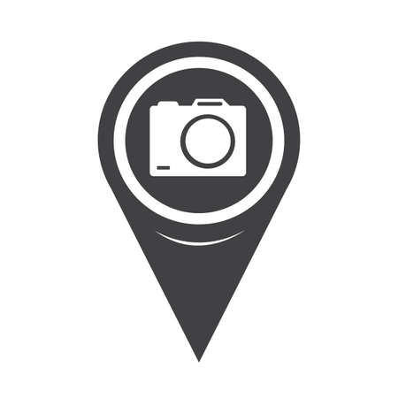 flash point: Map Pointer Camera Icon Illustration