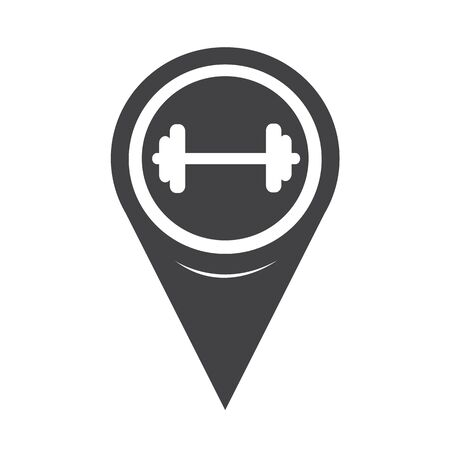 geolocation: Map Pointer Dumbbell Icon