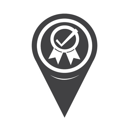 certify: Map Pointer Certified Icon