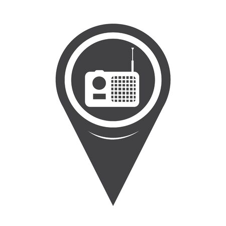 radio icon: Map Pointer Radio Icon