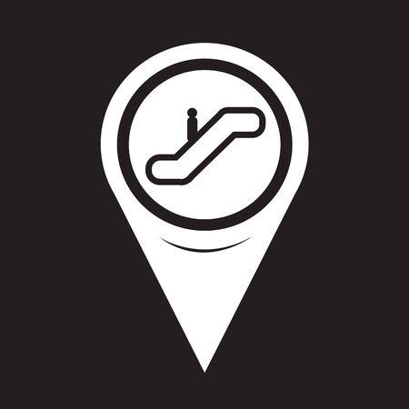 escalate: Map Pointer Escalator Icon