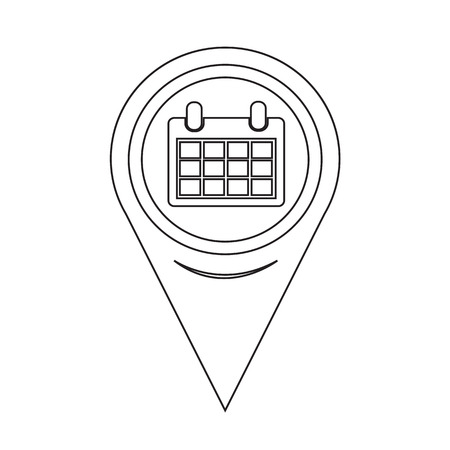 event planning: Map Pointer Calendar Icon