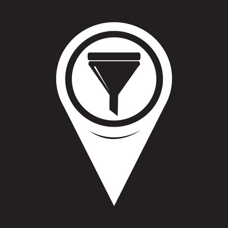 filler: Map Pointer Oil Fill Icon Illustration