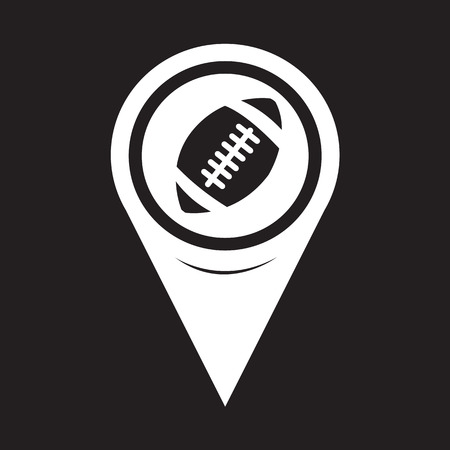 college footbal: Mapa del puntero Icono del f�tbol americano Vectores