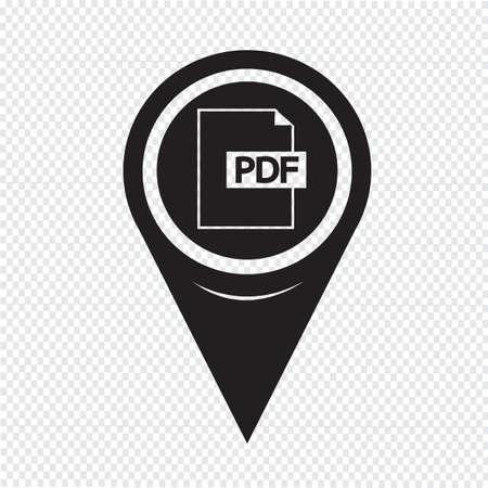 pdf: Map Pointer PDF Icon