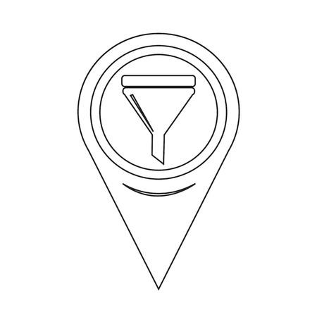 fill: Map Pointer Oil Fill Icon Illustration